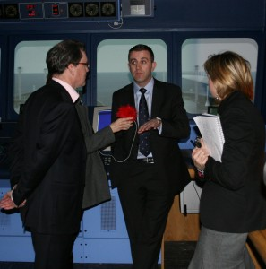 """George Lee, RTÉ Radio 1 ""The Business"", Conor Mowlds, Managing Director SEFtec NMCI Offshore, Val Cummins, Director of MERC3"""