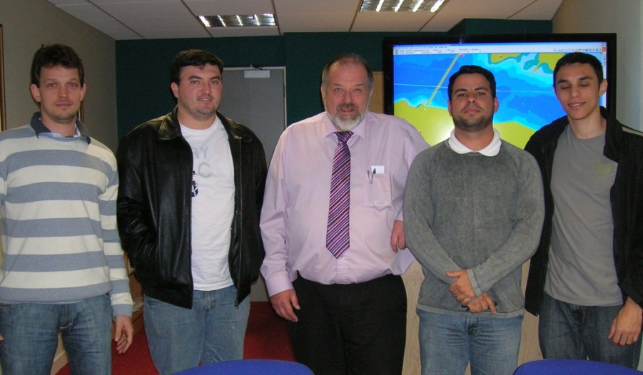 Mr. Diogo Weberpilz, Mr Eliel de Andrade, Captain Clive Hotham (Lecturer and simulation co-ordinator),Mr. Fabio Sousa de Oliveira, Mr. Diogo Nery Monteiro