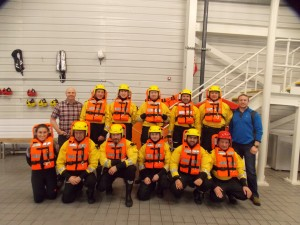 NMCI Service Instructors with their successful delegates at the end of a busy day
