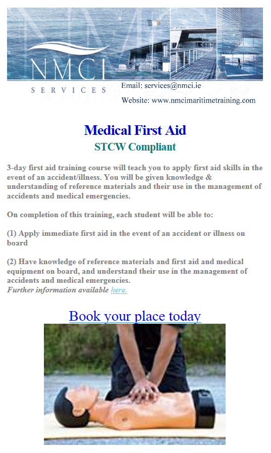 Meical First Aid Mail Shot