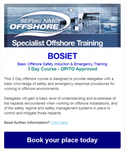 BOSIET OFFSHORE TRAINING