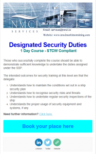 Designated Security Duties STCW
