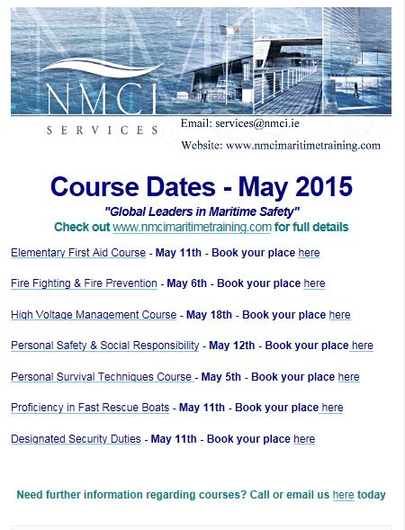 May Course Dates