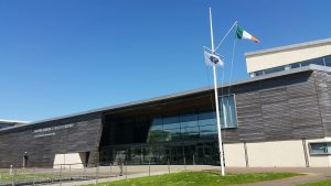 GAC and Irish Flag flying outside the NMCI